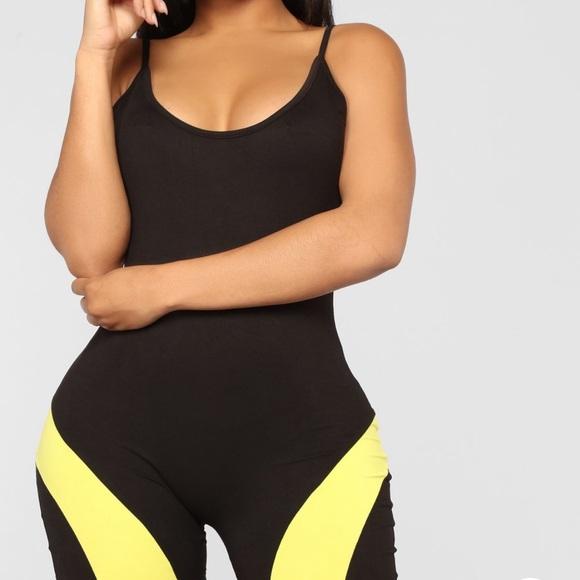 0f3955fc794c Fashion Nova Pants - Fashion Nova Blocking spree women s romper yellow